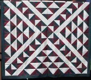 strip pieced quilt